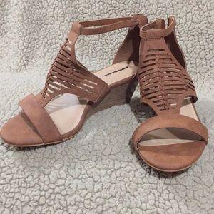 Torrid Wedge Brown Sandals - NWOT - 11W